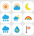 weather flat icons set collection of snow banner vector image vector image