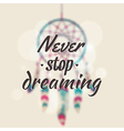 with blurred dream catcher and motivational vector image vector image