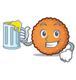 with juice cookies mascot cartoon style vector image