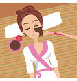 Woman having beauty treatments in the spa salon vector image vector image