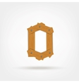 Wooden Boards Zero vector image vector image