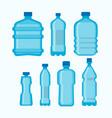plastic water bottles set isolated on white vector image