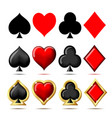 3d suit playing cards vector image vector image