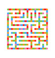 abstract square light isolated labyrinth of vector image vector image