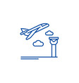 airport line icon concept airport flat vector image