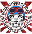 animal tee vintage graphic design helmet vector image vector image