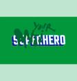 anti hero print vector image vector image