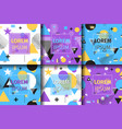 banner set geometric pattern vector image vector image