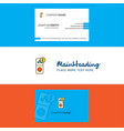 beautiful internet error logo and business card vector image vector image