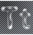 Bubbles letters T vector image vector image