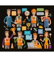 Builder or construction repair icons set vector image vector image