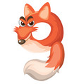 cartoon fox number nine vector image