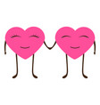 cartoon hearts man and woman on valentine s day vector image vector image