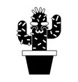 cartoon potted cactus kawaii character vector image vector image