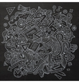 Cartoon sketchy doodles hand drawn school vector image vector image