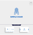 chair logo design furniture icon element isolated vector image vector image
