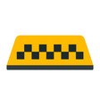 checkered taxi beacon sign icon flat isolated vector image vector image