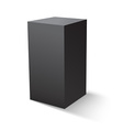 Cube black icon Template for your design vector image