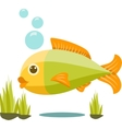Cute Isolated Fish Cartoon vector image