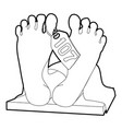 dead body icon outline style vector image