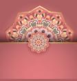 elegant mandala background design vector image vector image