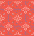 embroidery snowflake stitches seamless vector image vector image