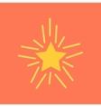 flat icon on stylish background poker star vector image vector image