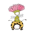flower fairy and a ladybug vector image vector image