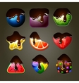 Fruit candies for match three puzzle game with vector image vector image