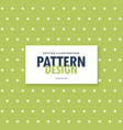 green background with white polka dots pattern vector image vector image
