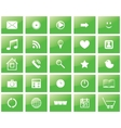 green eco set of icons vector image vector image
