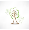 Green tree grunge icon vector image vector image