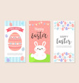 happy easter vertical banner bookmark flyer vector image vector image
