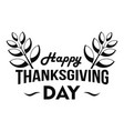 happy thanksgiving leaf logo simple style vector image vector image