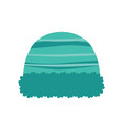 hat isolated on white background winter knitting vector image vector image