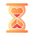 heart shaped hour glass flat icon infinity love vector image