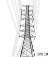 high voltage power pole line sketched up eps 10 vector image