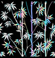 holographic bamboo seamless pattern vector image