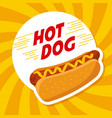 hot dog fast food mustard delicious vector image