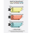 infographic of three simple style options in vector image