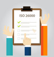 iso 26000 social responsibility standards business vector image vector image