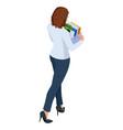 isometric business women stylish isolated on white vector image vector image