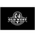 longhorn bull western country cowboy vintage logo vector image vector image