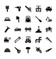maintenance and site tools glyph icons pack vector image vector image