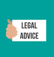 man showing paper legal advice text vector image