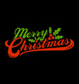 merry christmas text font graphic vector image vector image