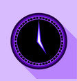 modern clock icon flat style vector image vector image