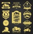 Motorcycle premium vintage label vector image vector image