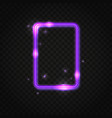 neon purple rectangle frame with space for text vector image