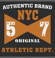 new york brooklyn sport wear typography emblem vector image vector image